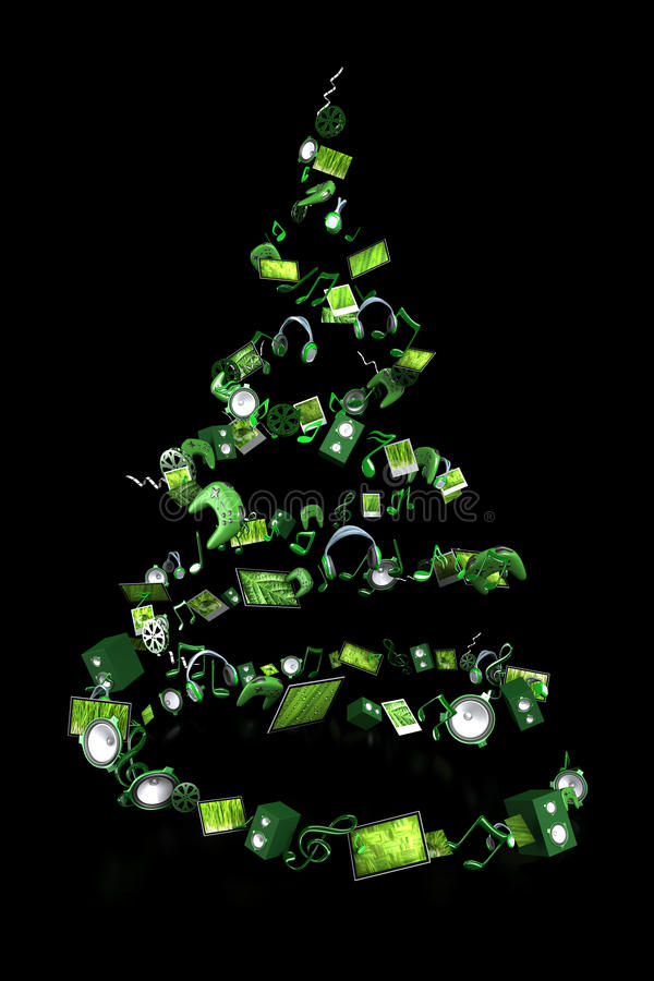 Christmas Tree Made Up Of Toys Royalty Free Stock Image