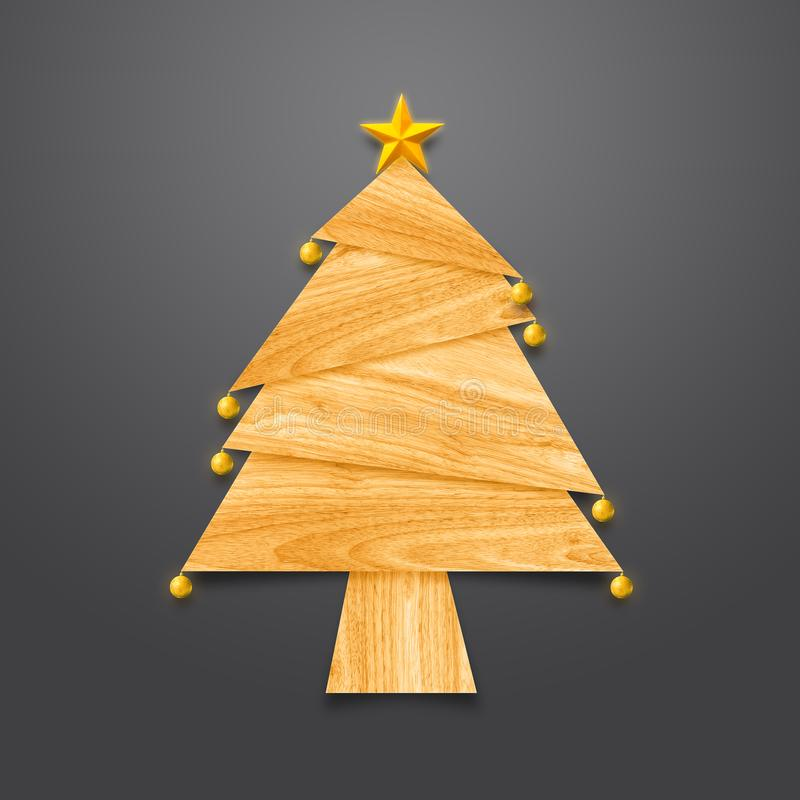 Christmas tree made from wood vector illustration