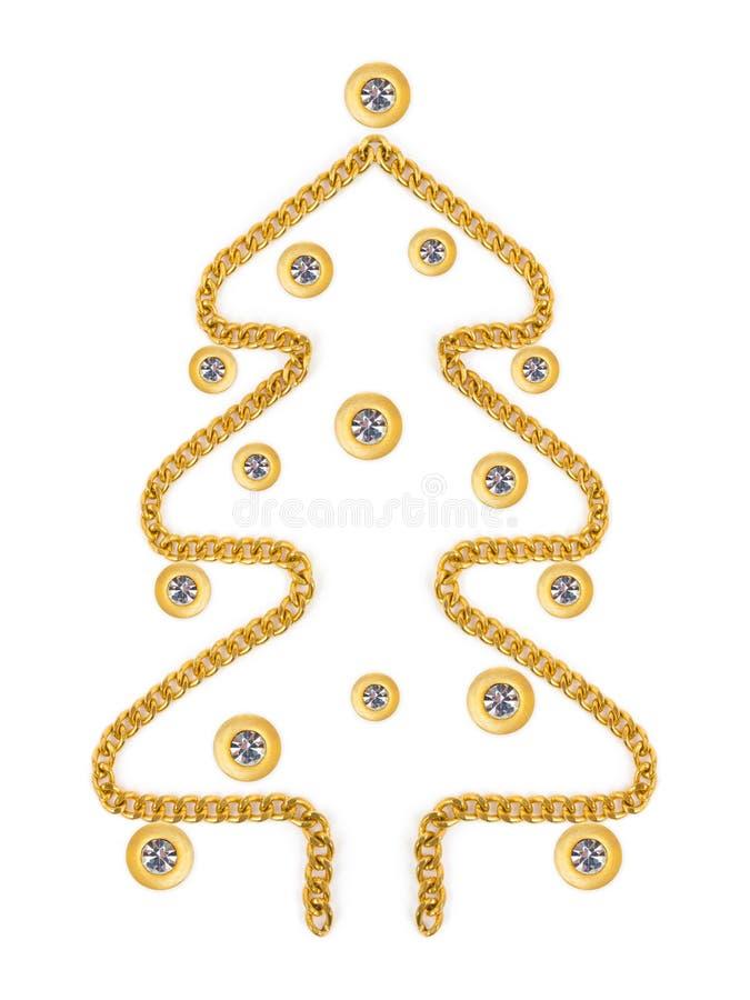 Christmas Tree Mafe Of Jewelry Royalty Free Stock Image