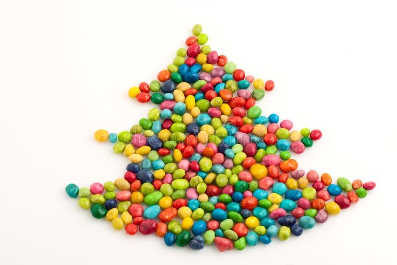 Christmas tree many-coloured stock photo