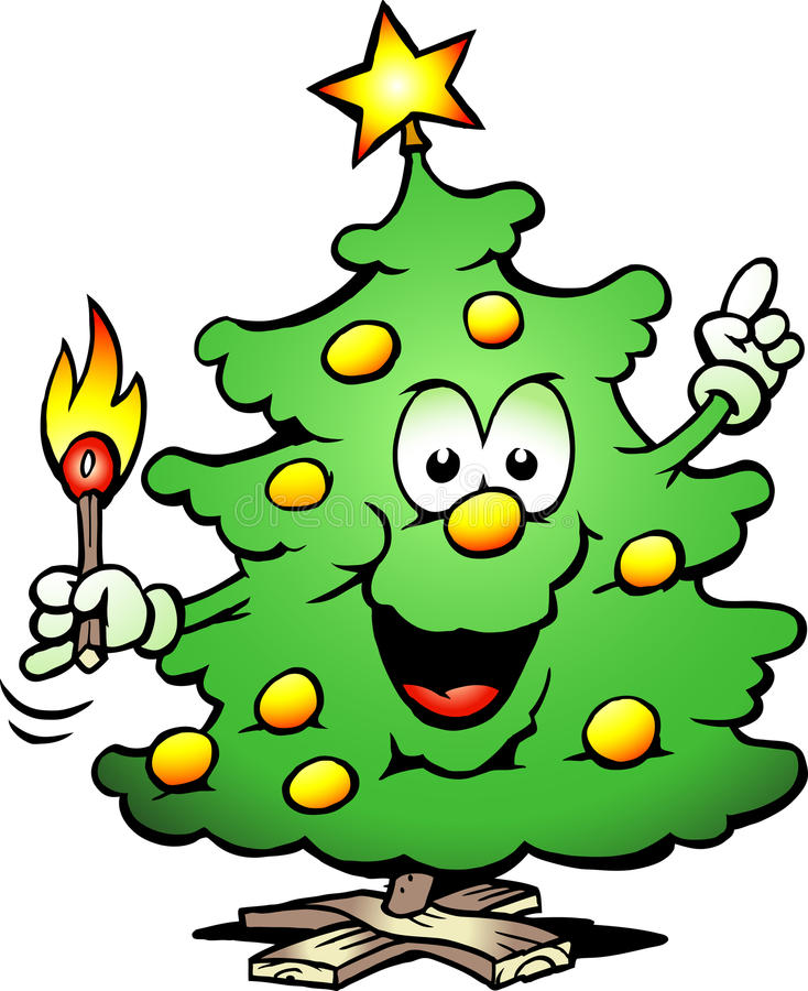 Download Christmas Tree  With A Match Stock Vector - Image: 25100775