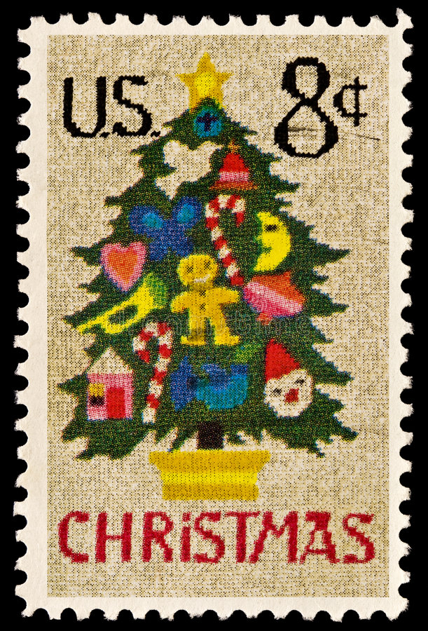Christmas Tree in Needlepoint Issue stock photography