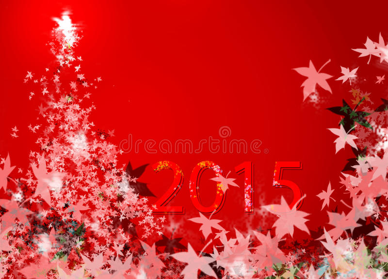Christmas tree & New Year 2015 (New Year) stock images