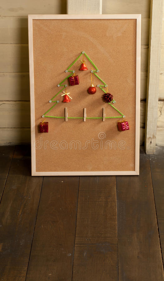 Download Christmas Tree On Noticeboard Stock Photo - Image: 35731774
