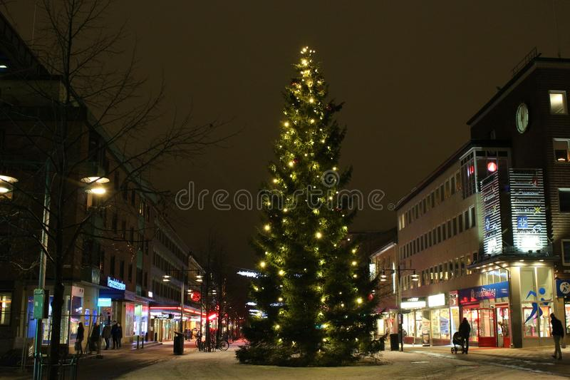 The Christmas tree on Nytorget stock photo