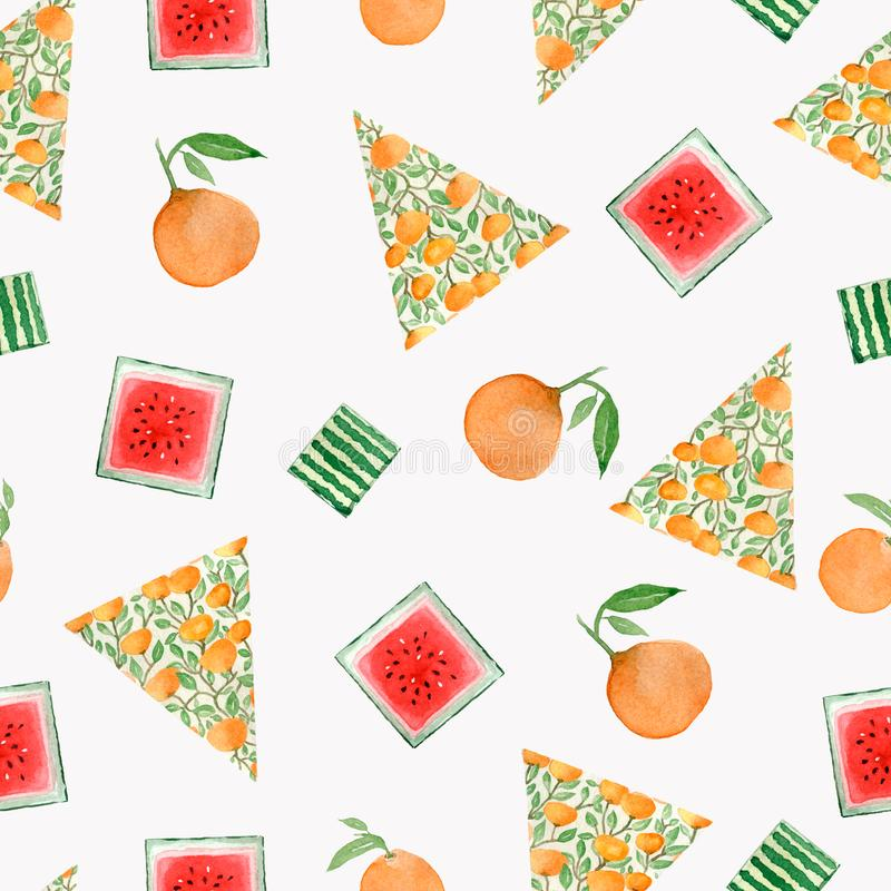 Christmas tree with oranges. Sketch for greeting card,festive poster, party invitations,textile, fabric, wrapping. vector illustration