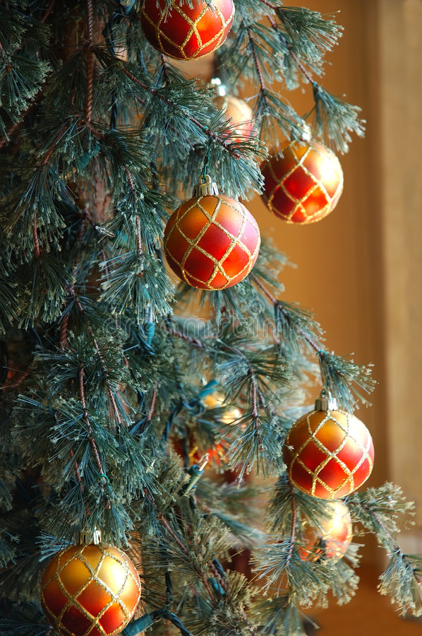 Christmas Tree with Ornaments royalty free stock photos