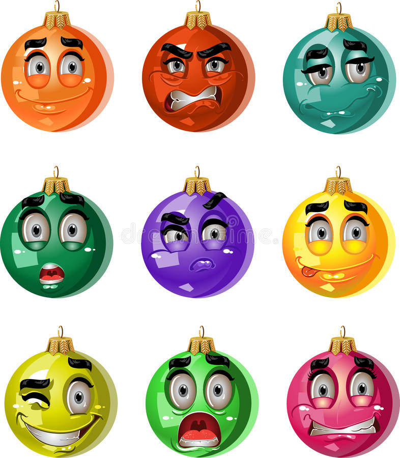 Download Christmas Tree Ornaments Balls - Smiles Stock Illustration - Image: 22375553