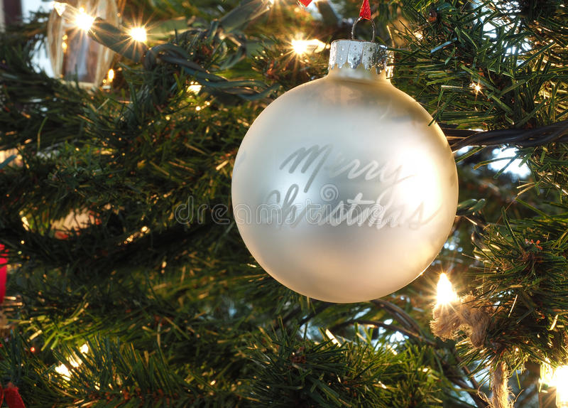 Christmas tree ornaments stock image
