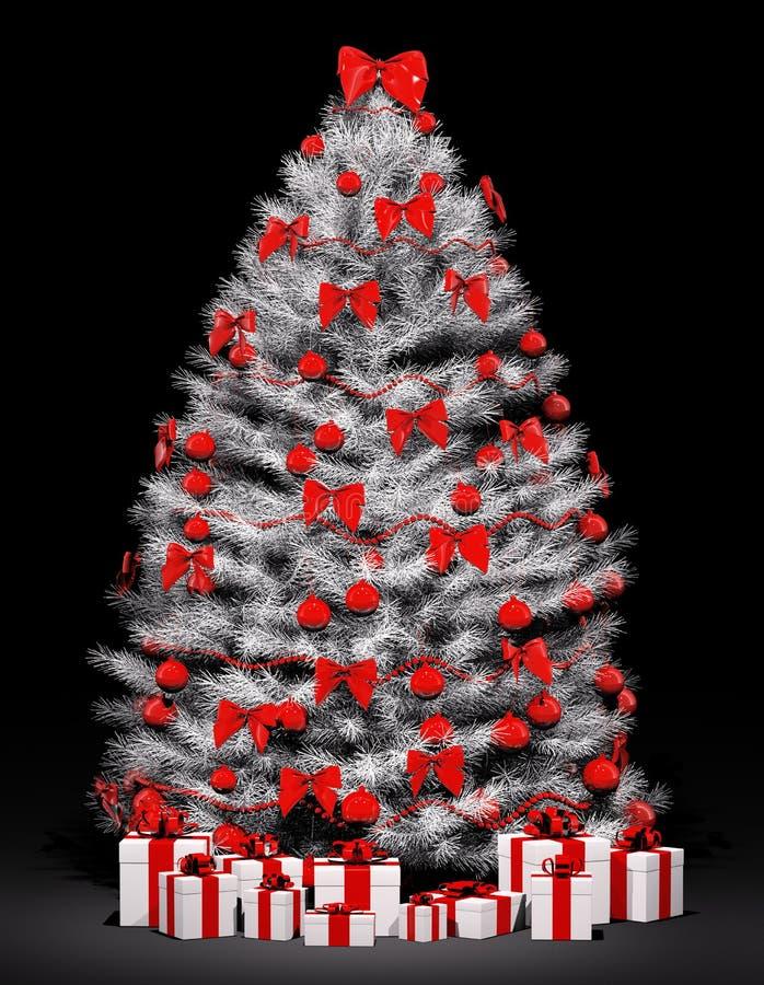 Download Christmas Tree Over The Black 3d Stock Illustration - Illustration: 17069254