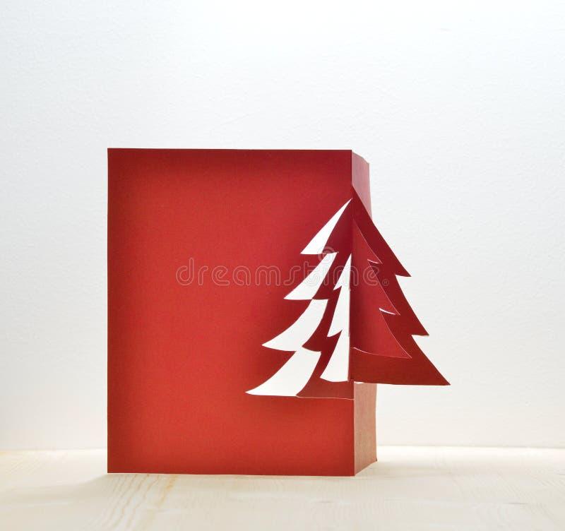 Christmas tree paper craft decorative art stock photo for Christmas classic art craft festival