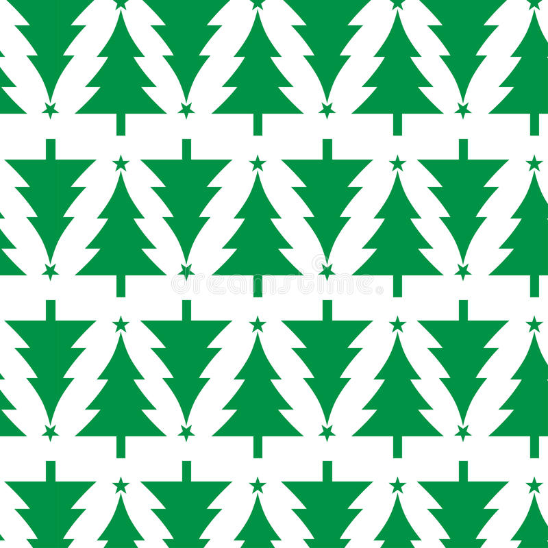 Christmas tree pattern royalty free illustration
