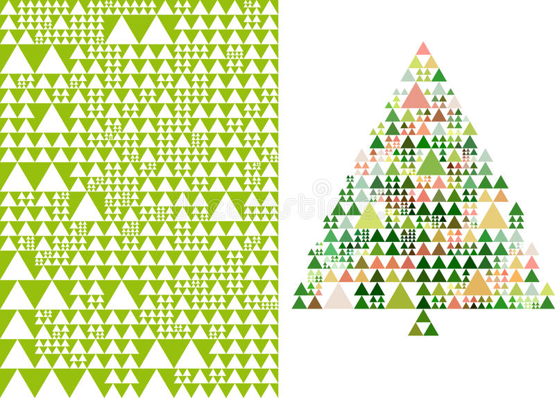 Download Christmas Tree And Pattern, Vector Stock Vector - Image: 27170427