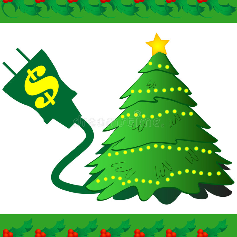 Christmas Tree Power Icon royalty free illustration