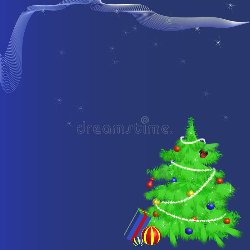 Christmas Tree and Presents royalty free illustration