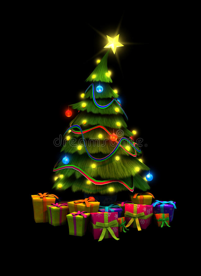 Download Christmas Tree And Presents Stock Illustration - Image: 16440702