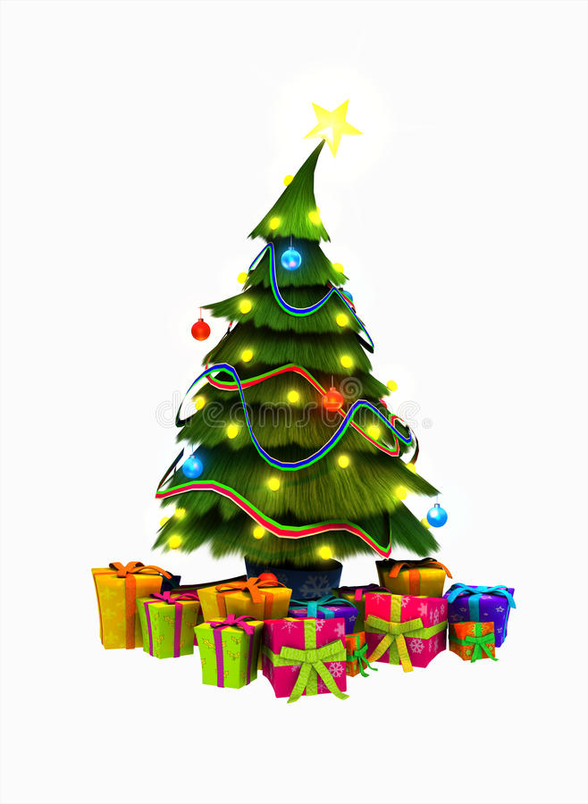 Download Christmas Tree And Presents Stock Illustration - Image: 16440717