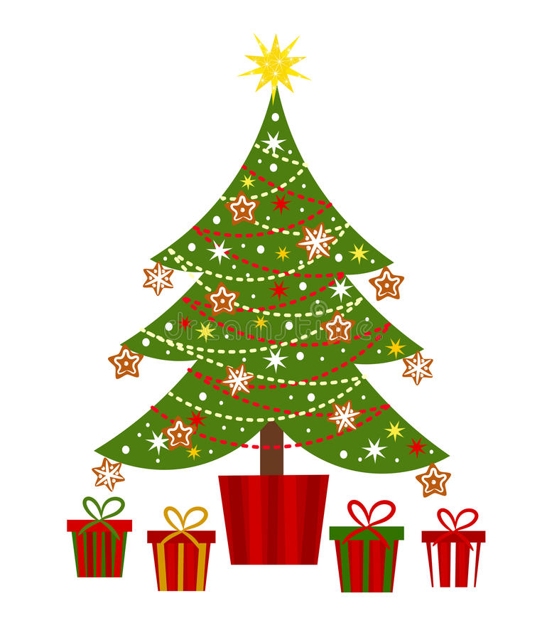 Download Christmas Tree And Presents Stock Vector - Image: 27388433