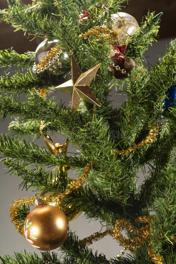 Christmas Tree With Presents Underneath. Stock Photo ...