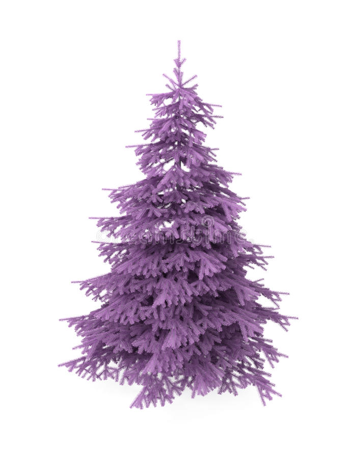 Download Christmas Tree, Purple, Isolated On White Stock Illustration - Image: 17330537