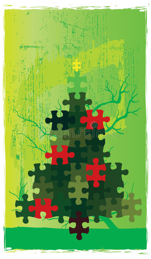 Christmas Tree Puzzle Royalty Free Stock Image