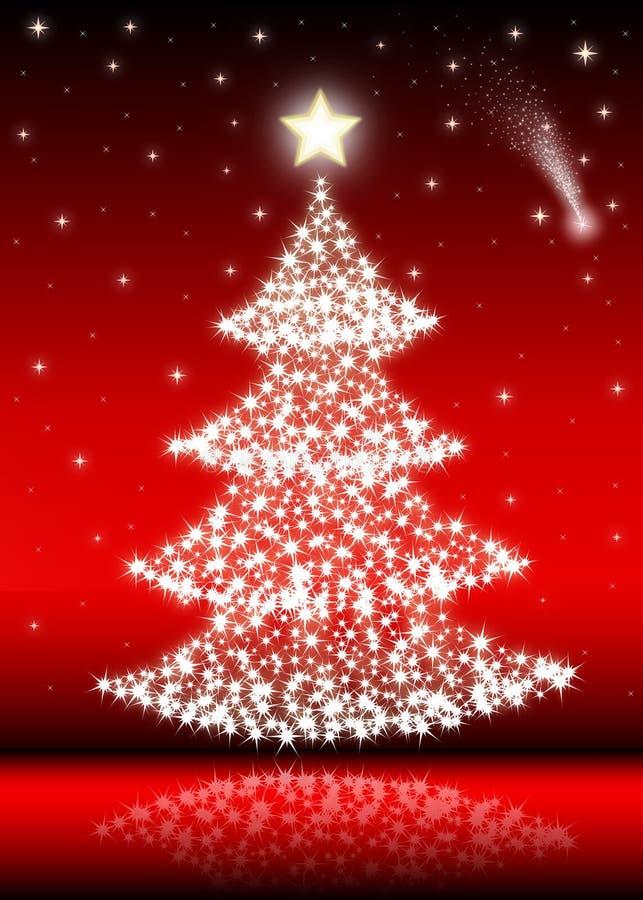 Christmas tree (red) stock image