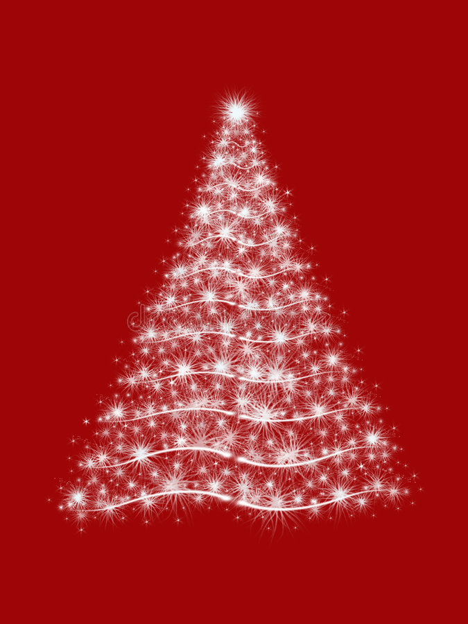 Christmas tree in red stock photos