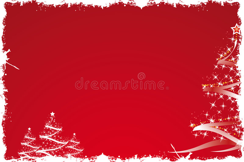 Christmas tree in red stock illustration