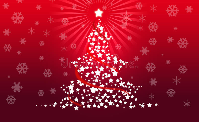 Download Christmas Tree On Red Background Stock Illustration - Image: 17446142