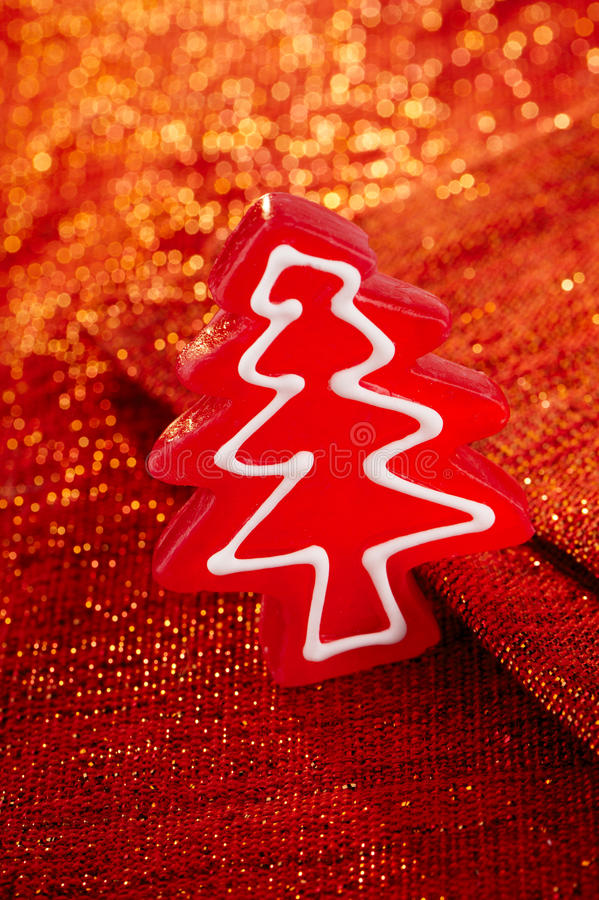Download Christmas Tree Red Candy In Glitter Backdrop Stock Image - Image: 27041821