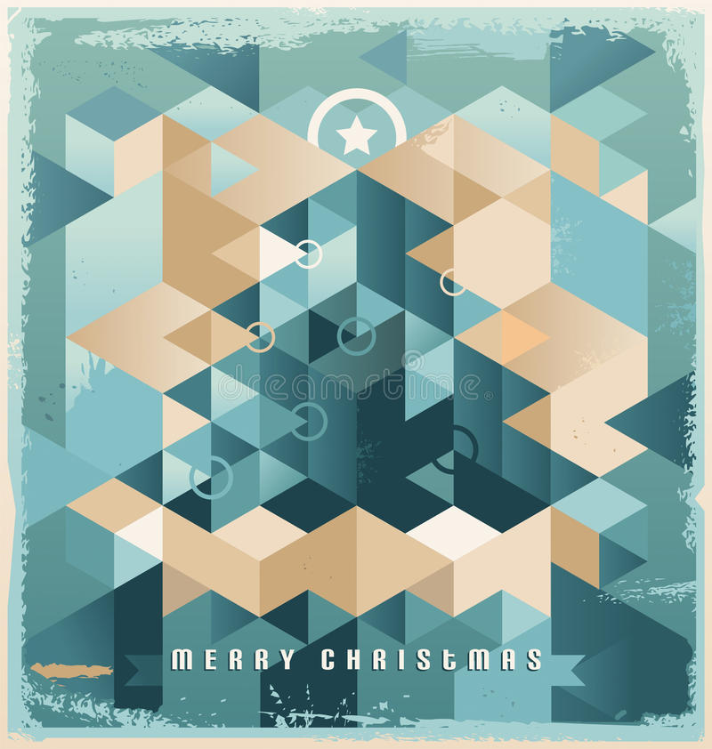 Download Christmas Tree Retro Background Design Stock Vector - Illustration of frame, triangle: 27006395