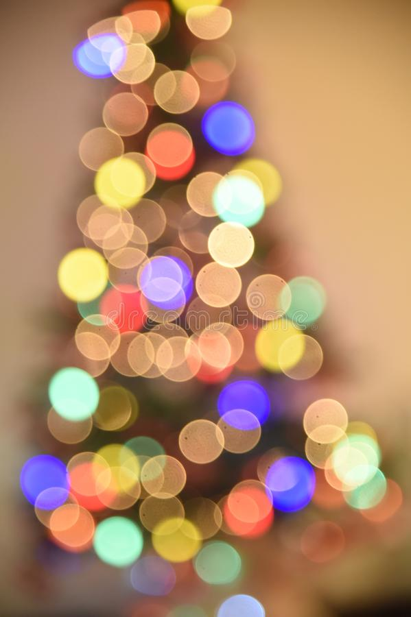 Christmas tree. Rio de Janeiro - Brazil, decoration of Christmas tree with deliberate blur, to give effect royalty free stock photo