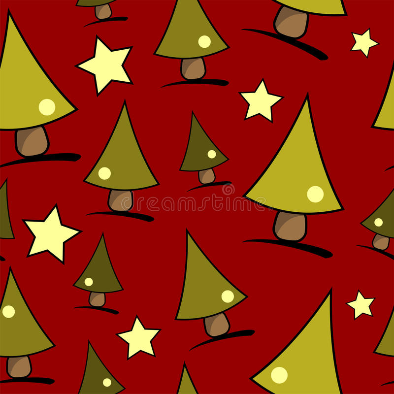 Download Christmas Tree Seamless Pattern Stock Vector - Image: 15414203