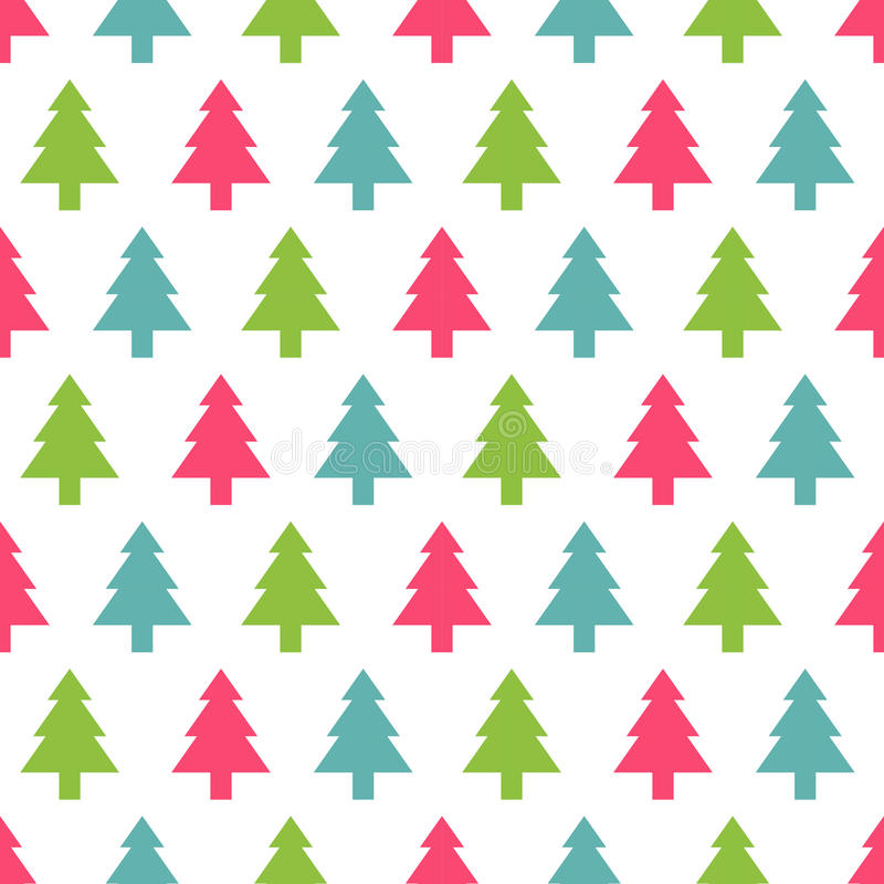 Download Christmas Tree Seamless Pattern For New Year Greeting Card Wallpaper Background Vector Illustration