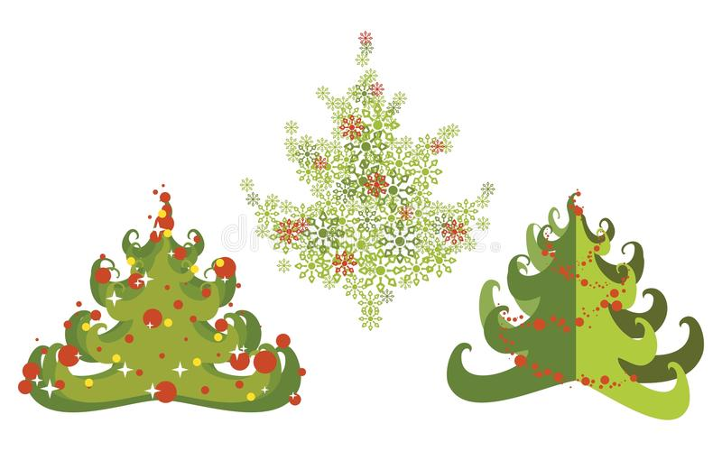 Download Christmas tree set stock vector. Illustration of image - 22403189