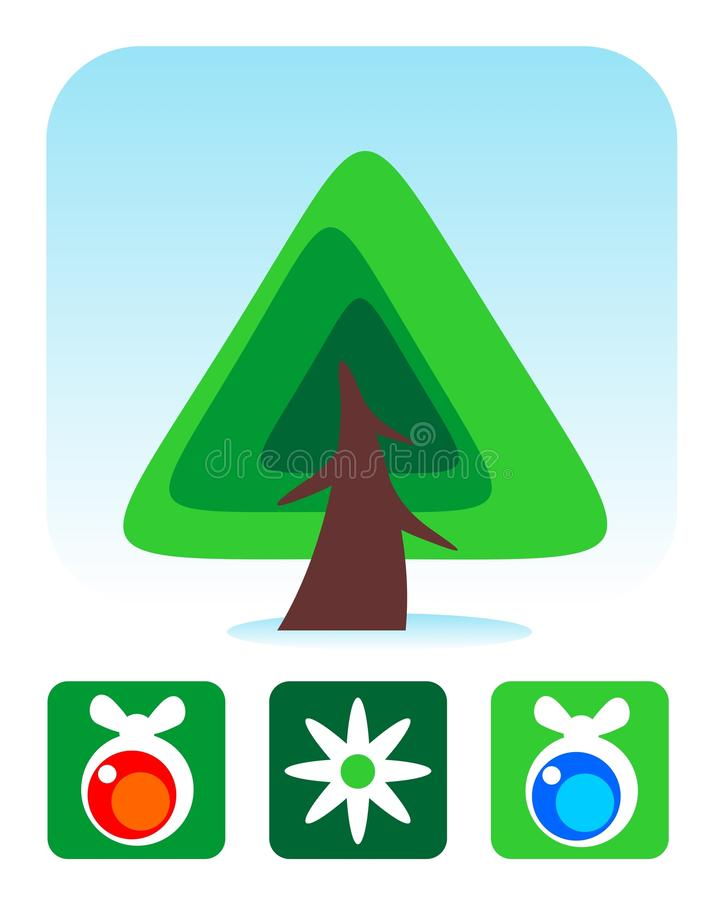 Download Christmas tree set stock vector. Image of ornate, isolated - 26980705