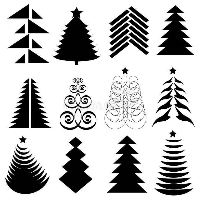 Christmas Tree Set Stock Image