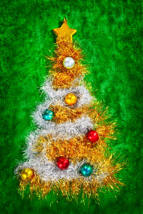 Download Christmas tree shape stock image. Image of card, nobody - 21790715