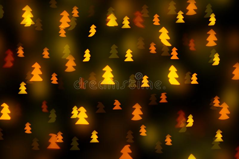 Christmas tree shaped bokeh stock photography