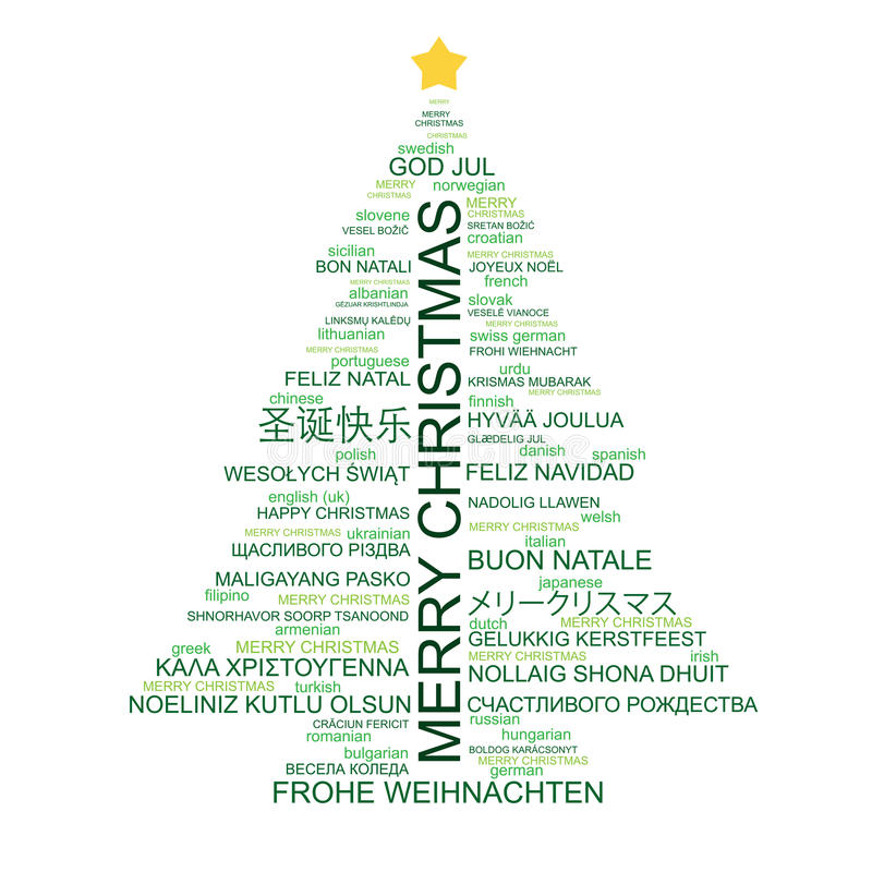 Christmas tree shaped from type vector illustration
