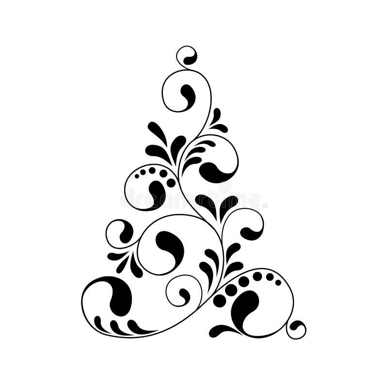 Christmas tree silhouette stock illustration. Illustration ...