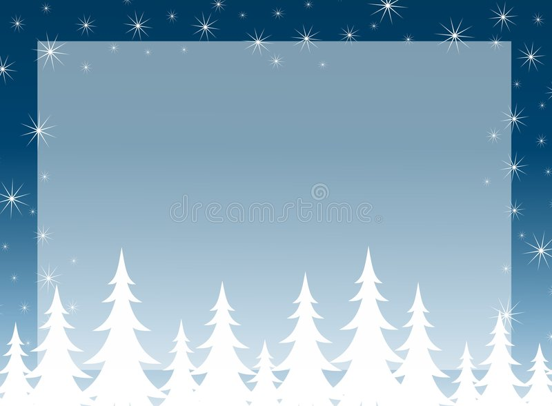 Christmas Tree Silhouette Background royalty free illustration