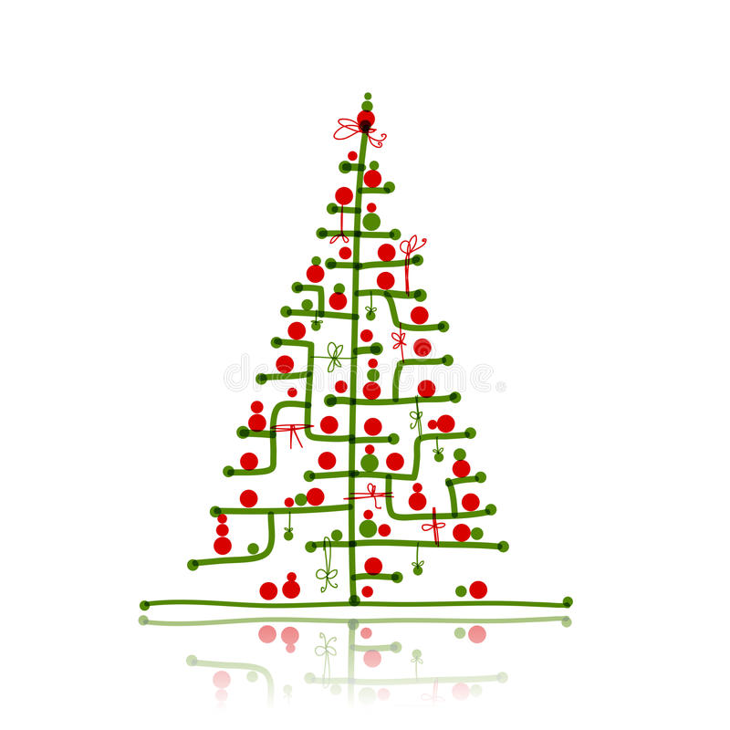 Download Christmas Tree Sketch For Your Design Stock Vector - Image: 28931911