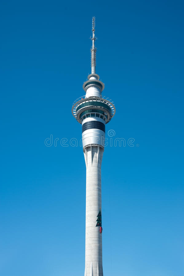 Download Christmas Tree on Skytower editorial image. Image of sails - 17131385