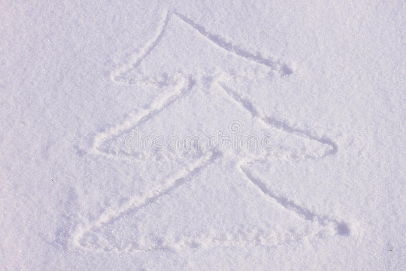 Download Christmas Tree On A Snow Royalty Free Stock Photos - Image: 26513438