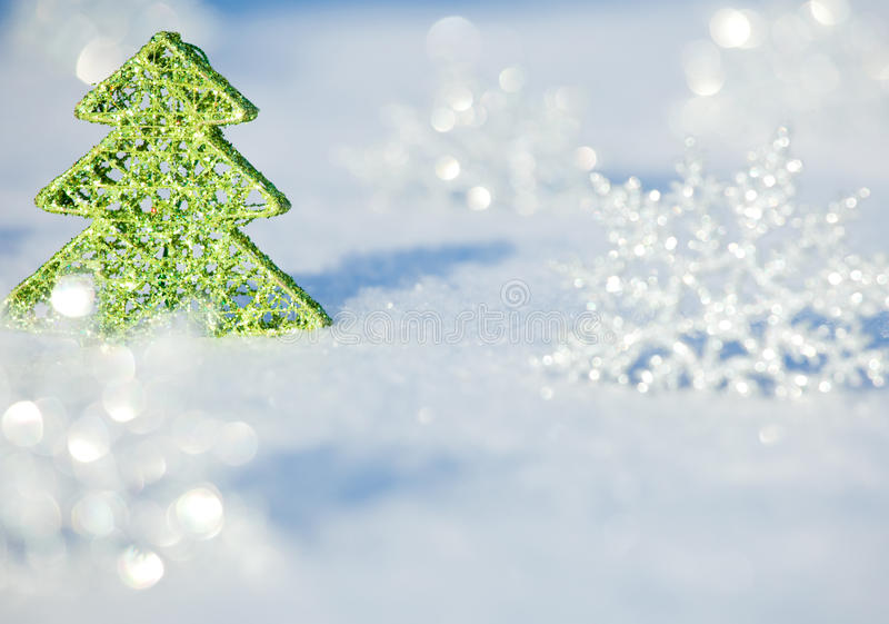 Download Christmas tree on snow stock image. Image of december - 26838415
