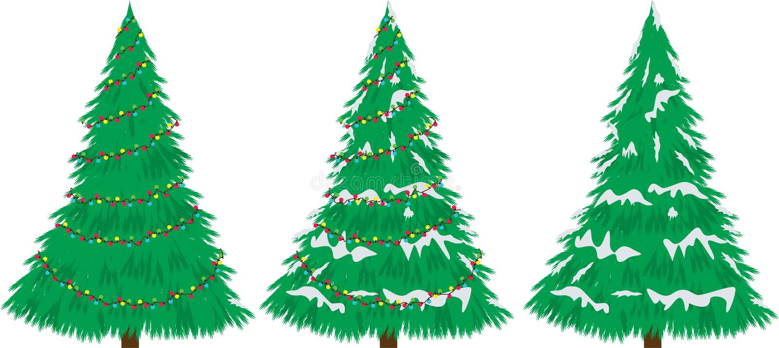 Download Christmas Tree  With Snow And Bulbs. Stock Vector - Image: 28037183