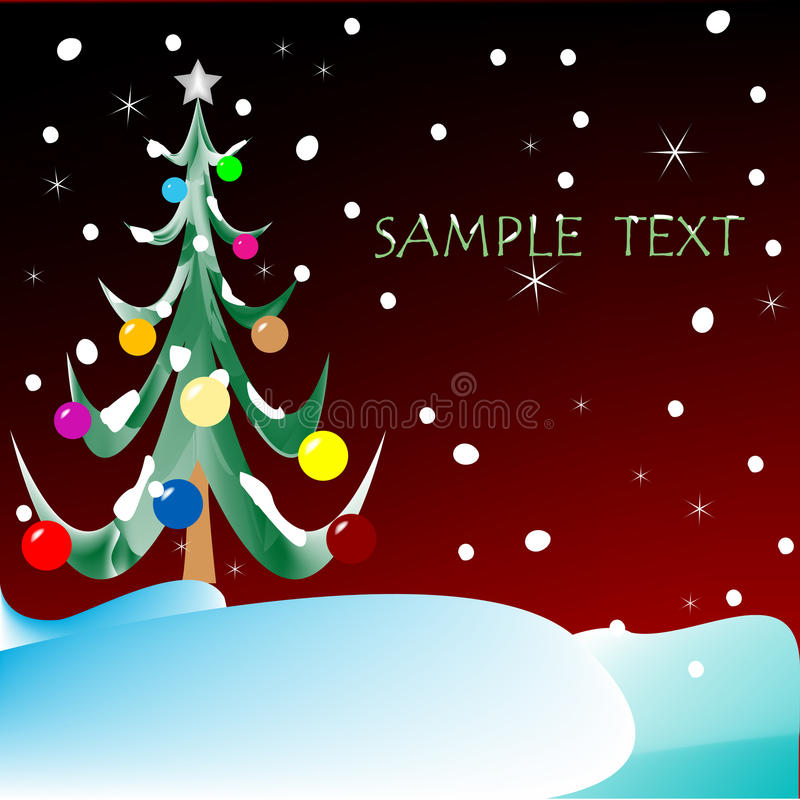 Download Christmas Tree With Space For Text Stock Vector - Image: 11799502
