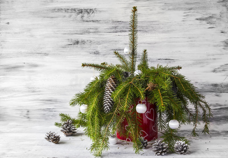 Christmas tree spruce green wooden stock photos
