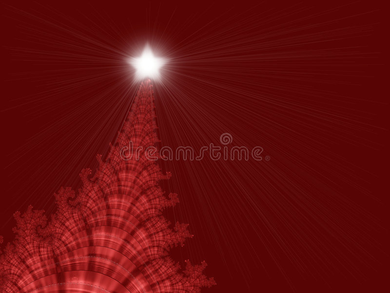 Christmas Tree with Star stock illustration